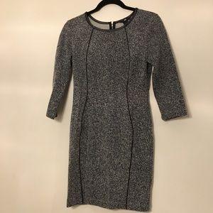 H&M Tweed 3/4 Sleeve Suit Dress